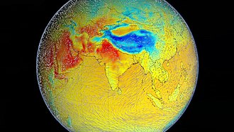 During summer, warm continental masses draw moist air from the Indian Ocean hence producing heavy rainfall. The process is reversed during winter, resulting in dry conditions. Indian Ocean Monsoon.jpg