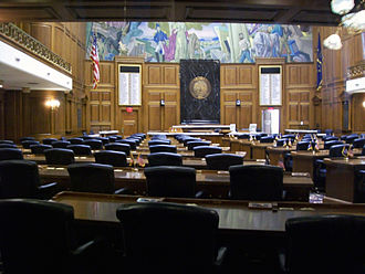 Indiana House of Representatives - Image: Indiana House of Representatives Chambers, Indiana Statehouse, Indianapolis, Indiana