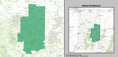 Indiana Us Congressional District 6 Since 2013 Tif