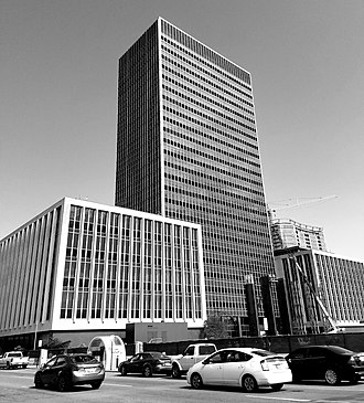 City-County Building (Indianapolis) - Image: Indianapolis City County Building BW
