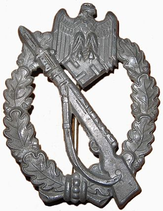 Dietrich von Choltitz - Image: Infantry Assault Badge of Nazi Germany