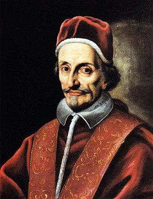 Pope Innocent XI - Portrait in 1787.