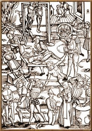 Spanish Inquisition - A 1508 woodcut of the Inquisition