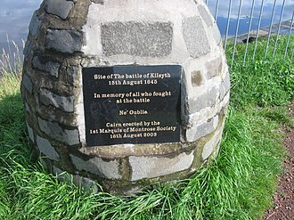 Battle of Kilsyth - Cairn in memory of the Battle of Kilsyth