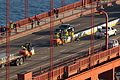 Installation of the Golden Gate Bridge Moveable Median Barrier System on January 10, 2015 -03.jpg