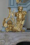 interieur, schoorsteenboezem, detail van cybele in hout - haarlem - 20353757 - rce