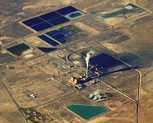 Intermountain Power Plant - Aerial view of Intermountain Power Plant, Utah