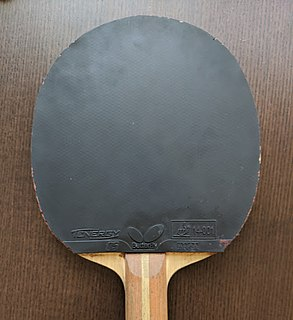 Table tennis rubber Rubber used as covering on a table tennis racket