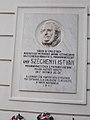 István Széchenyi plaque-relief, Városház Street 2, 2017 Mosonmagyaróvár.jpg