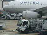 Isuzu NPR, at IAH US, Airport fuel truck.jpg