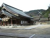 Izumo Taisha - haiden and Honden, one of the oldest shrines in Japan
