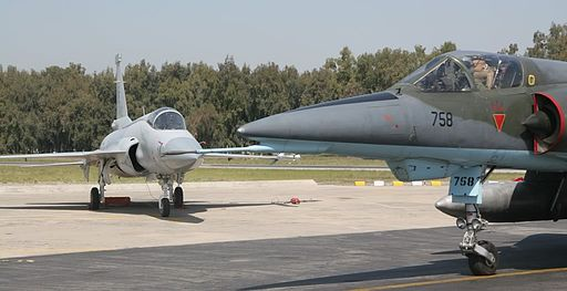 JF-17 background Mirage 5 ROSE foreground