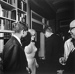 Cecil W. Stoughton - Image: JFK and Marilyn Monroe 1962 larger