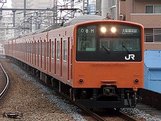 201 series - Image: JRW 201 Osaka Loop