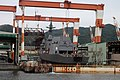 JS Suzutsuki under construction at Mitsubishi Nagasaki, -6 Oct. 2012 a1.jpg