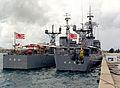 JS Tokachi (DE-218) and JS Ōi (DE-214) in Apra Harbor, -1 Apr. 1984 b.jpg