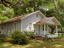 House where Jack Kerouac lived with his mother, at 1418 Clouser Avenue in the College Park section of Orlando, Florida.