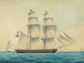 Jacob Petersen - Skibsportræt af briggen Cora - 1851.png