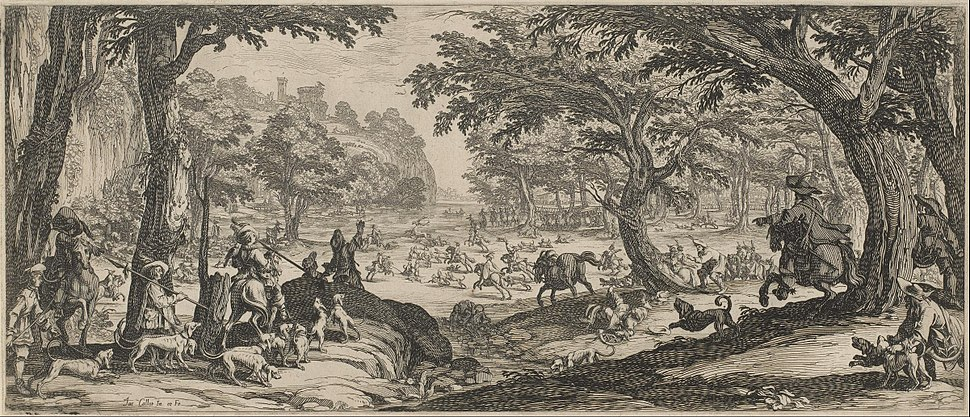 Jacques Callot - The Stag Hunt - Google Art Project