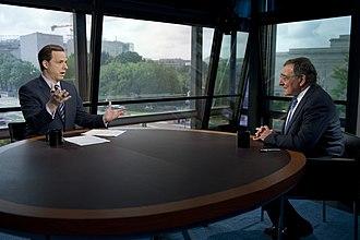 Jake Tapper - Tapper interviewing U.S. Defense Secretary Leon Panetta in 2012