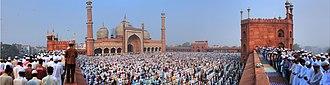 Jama Masjid, Delhi - Jama Masjid Eid Panorama