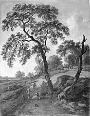 Landscape with People on Foot