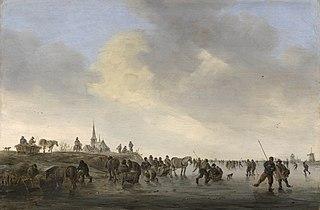 Skating on the Merwede near Dordrecht