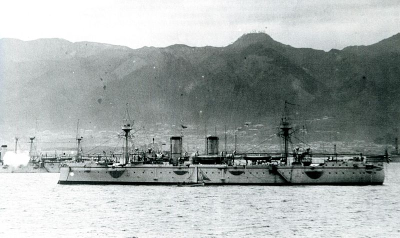 File:Japanese cruiser Akitsushima in Kobe.jpg