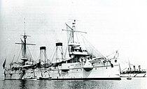 Japanese cruiser Kasagi at Kobe 1899.jpg