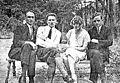 Jarosław Iwaszkiewicz, Jerzy Rytard, Anna Iwaszkiewiczowa, Jerzy Liebert in Podkowa Leśna, 1925.jpg