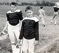 Jeb Bush and friend, Dale, at football 1961 2875 (cropped1).jpg