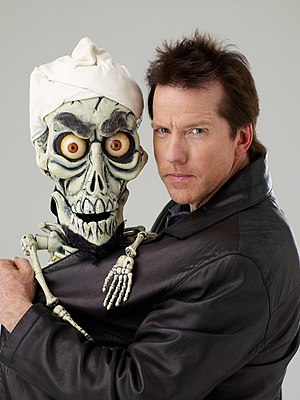 "Jeff Dunham - Dunham with his puppet ""Achmed the Dead Terrorist"""