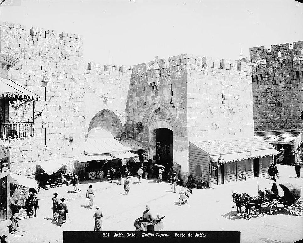 Jerusalem Jaffa Gate-19th-buildings