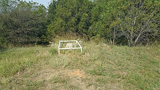 National Register of Historic Places listings in Blaine County, Oklahoma - Image: Jesse Chisholm grave site and headstone