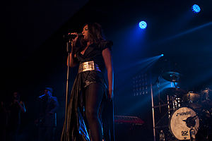 Running Back (Jessica Mauboy song) - Mauboy performing at the Galaxy Tour, January 2012.