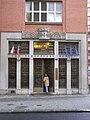 Jižní vstup do Domu zemědělské osvěty, ulice Slezská, Praha.jpg