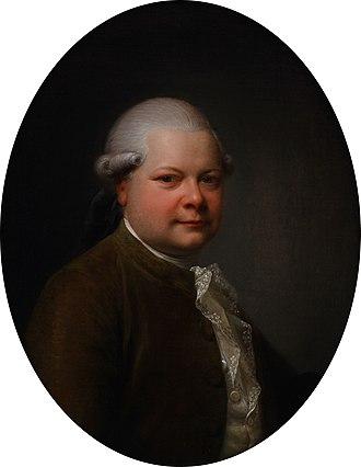 Lindencrone Mansion - Johan Frederik Lindencrone painted by Jens Juel in 1787