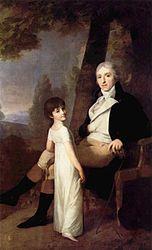 Johann Friedrich August Tischbein: Portrait of Jaques Ferdinand Dufour-Feronce with his daughter Constance Aimée
