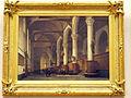 Johannes Bosboom (1793-1861), Interieur van de kerk van Edam, Olieverf op doek photo2.JPG