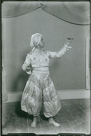 Aladdin (Nielsen) - Johannes Poulsen as Aladdin at the Royal Theatre in Copenhagen.