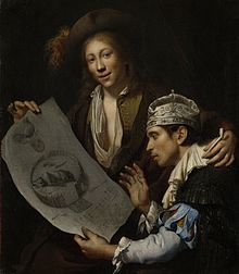 Allegory of the Disaster Year by Jan van Wijckersloot (1673): In this  allegorical painting, a young Orangist shows a regent, wearing a nightcap,  ...