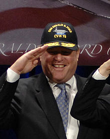 "John ""Jack"" Gardner Ford at a ceremony where a model of the USS Gerald R Ford (CVN-78) was unveiled at the Pentagon - 20070116.jpg"