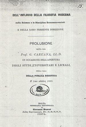 John Caruana - Dell'Influsso della Filosfia Moderna (1889) of John Caruana