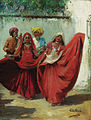 John Gleich - Two Indian Nauch girls with musicians.jpg