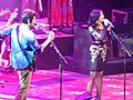 John Mayer and Katy Perry singing Who You Love at the Barclays Center 03.jpg