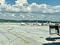 John Paul II Airport in Balice-Kraków tarmac seen from airport terminal, Poland, 2019.jpg