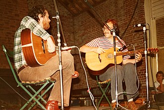 John Renbourn - Renbourn (left) and Stefan Grossman on stage at the 1978 Norwich Folk Festival