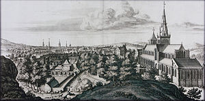 Glasgow Cathedral - Glasgow Cathedral, engraving by John Slezer, (1693)