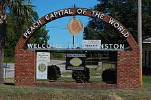Welcome sign entering Johnston, SC