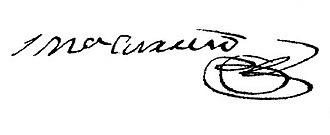 José María Carreño - Image: José María Carreño signature